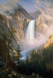 Yellowstone Falls | Bierstadt | Painting Reproduction