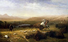 The Last of the Buffalo | Bierstadt | Gemälde Reproduktion