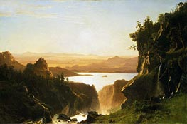 Island Lake, Wind River Range, Wyoming | Bierstadt | Painting Reproduction