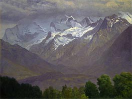 In the High Mountains | Bierstadt | Painting Reproduction