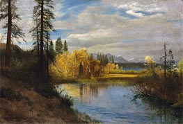 Outlet at Lake Tahoe, indated von Bierstadt | Gemälde-Reproduktion