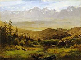In the Foothills of the Rockies , undated by Bierstadt | Painting Reproduction