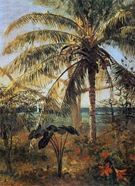 Palm Tree, Nassau, 1892 by Bierstadt | Painting Reproduction