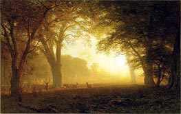 Golden Light of California, undated by Bierstadt | Painting Reproduction