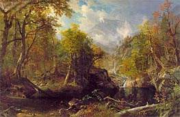 The Emerald Pool, 1870 by Bierstadt | Painting Reproduction