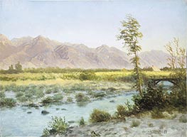 Western Landscape, undated by Bierstadt | Painting Reproduction