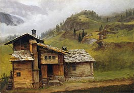 Mountain House | Bierstadt | Painting Reproduction