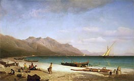 Bay of Salerno, 1858 by Bierstadt | Painting Reproduction