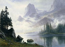 Mountain out of the Mist | Bierstadt | Painting Reproduction