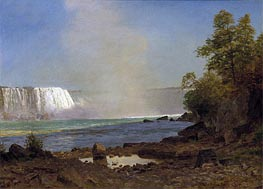 Niagara Falls, 1863 by Bierstadt | Painting Reproduction