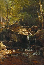 Thompson Cascade, White Mountains, undated by Bierstadt | Painting Reproduction