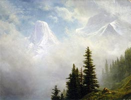 High in the Mountains | Bierstadt | Painting Reproduction
