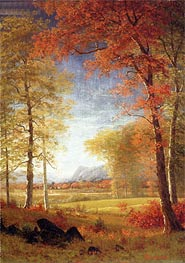 Autumn in America, Oneida County, New York, undated by Bierstadt | Painting Reproduction
