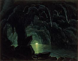 The Blue Grotto, Capri, undated by Bierstadt | Painting Reproduction