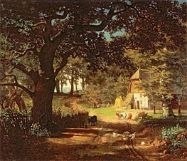 The House in the Woods, undated by Bierstadt | Painting Reproduction