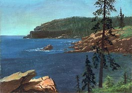 California Coast, undated by Bierstadt | Painting Reproduction