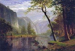 On the Merced River, 1863 by Bierstadt | Painting Reproduction