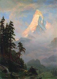 Sunrise on the Matterhorn, a.1875 by Bierstadt | Painting Reproduction