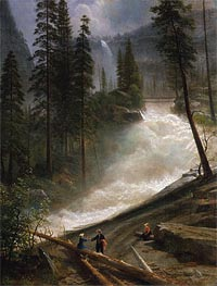 Nevada Falls, Yosemite, c.1872/73 by Bierstadt | Painting Reproduction