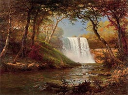 Minnehaha Falls, undated by Bierstadt | Painting Reproduction