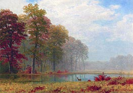 Autumn on the River, undated by Bierstadt | Painting Reproduction