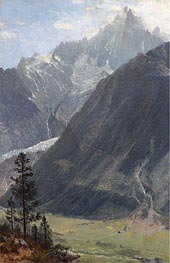 Mountain Landscape, undated by Bierstadt | Painting Reproduction