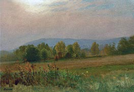 Autumn Landscape, New England, undated by Bierstadt | Painting Reproduction