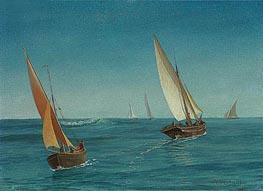 On the Mediterranean, undated by Bierstadt | Painting Reproduction