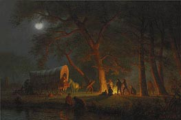 Oregon Trail, undated by Bierstadt | Painting Reproduction