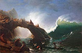 Farallon Island, 1887 by Bierstadt | Painting Reproduction