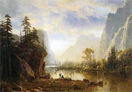 Yosemite Valley, 1863 by Bierstadt | Painting Reproduction