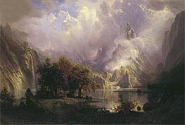 Rocky Mountain Landscape, 1870 by Bierstadt | Painting Reproduction
