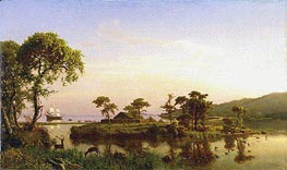 Bartholomew Gosnold at Cuttyhunk, 1858 by Bierstadt | Painting Reproduction