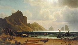 The Marina Piccola, Capri, 1859 by Bierstadt | Painting Reproduction