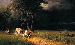 The Ambush, 1876 by Bierstadt | Painting Reproduction