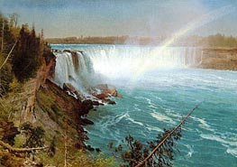 Niagara, c.1869 by Bierstadt | Painting Reproduction