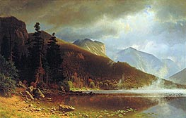 Echo Lake, Franconia Mountains, New Hampshire, 1861 by Bierstadt | Painting Reproduction