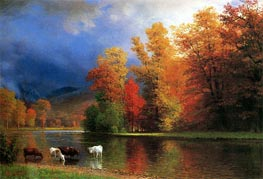 On the Saco, undated by Bierstadt | Painting Reproduction