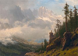 Sierra Nevada Mountains in California | Bierstadt | Painting Reproduction