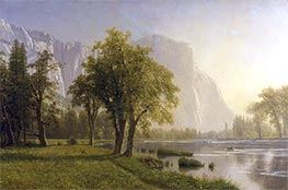 El Capitan, Yosemite Valley, California, 1875 by Bierstadt | Painting Reproduction