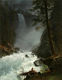 A Stream in the Rocky Mountains, 1882 by Bierstadt | Painting Reproduction