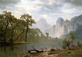 In the Yosemite Valley, 1866 by Bierstadt | Painting Reproduction