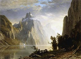 A Lake in the Sierra Nevada | Bierstadt | Painting Reproduction