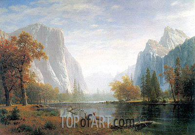 Yosemite Valley, c.1863/75 | Bierstadt | Painting Reproduction
