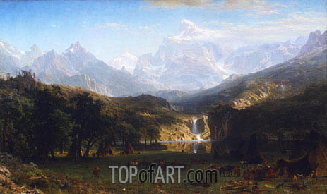 The Rocky Mountains, Lander's Peak, 1863 | Bierstadt | Painting Reproduction