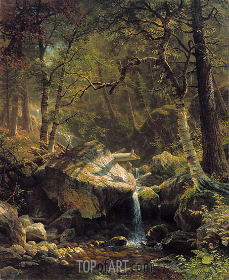 Mountain Brook, 1863 | Bierstadt | Painting Reproduction