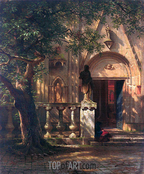 Sunlight and Shadow, 1862 | Bierstadt | Painting Reproduction