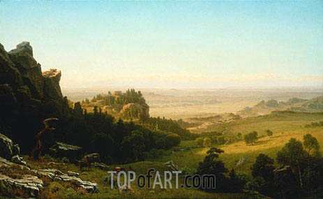 View from the Wind River Mountains, Wyoming, 1860 | Bierstadt | Painting Reproduction