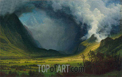 Storm in the Mountains, c.1870 | Bierstadt | Painting Reproduction
