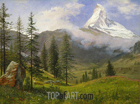 The Matterhorn, c.1867 | Bierstadt | Painting Reproduction